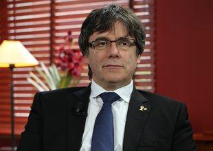 Entrevista d'El Punt Avui Televisió als presidents Quim Torra i Carles Puigdemont, a càrrec del director, Xevi Xirgo Foto: Pep Padrós